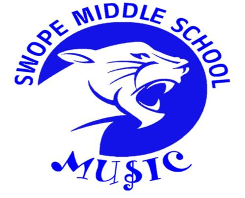 Blue Swope Middle School Music Panther Logo