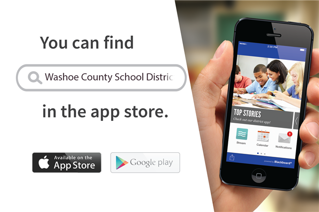 "Ad stating  ""You can find WCSD in the App Store"""