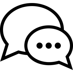 speech bubble icon by Alexander Kahlkopf