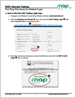 Image of Directions for Logging into MAP Testing Site