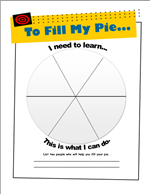 Image of Pie Goal Setting Worksheet