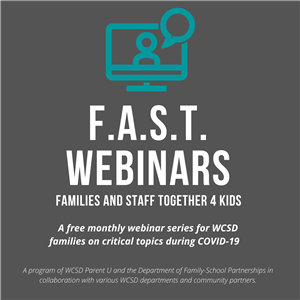 F.A.S.T. Webinars for Families during Covid-19
