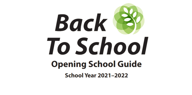 text that says Back to school, opening school GGuide school year 2021-2022