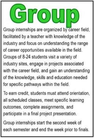 group internship