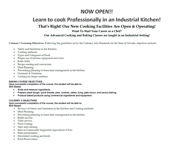 Human Resources Academy - Culinary Pathway Description