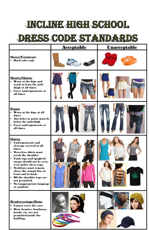Incline HS / Dress Code Standards