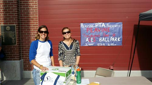 PTA board members Nicole and Lauren