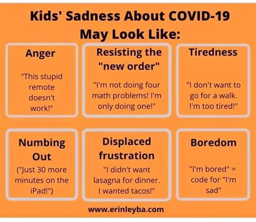 Kids' Sadness about COVID19