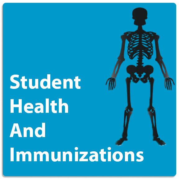 Student Health And Immunization Button