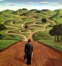 If your current path is not right for you, don't be afraid to walk across the grass to another path.