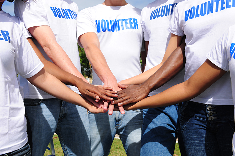 Circle of Hands for Volunteering