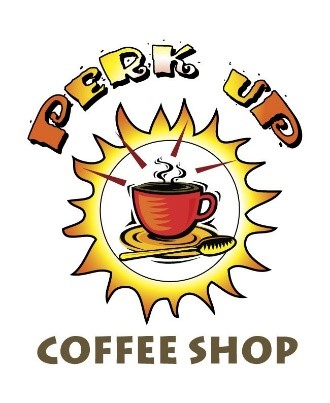 perk up coffee shop logo
