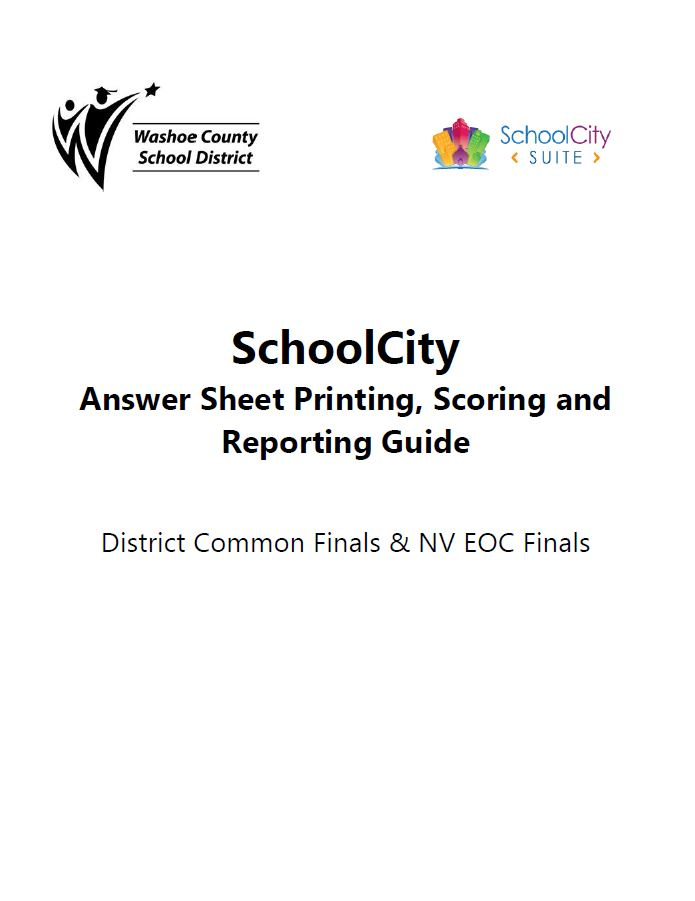 Print and Score answer sheets in School City