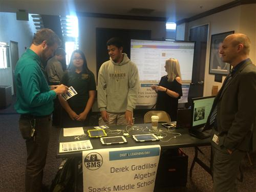 WCSD Students Promote Digital Learning Opportunities at the Nevada Legislature on Thursday, February 5.