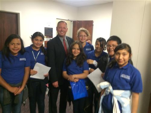 Student Ambassadors meet with Assemblyman Sprinkle